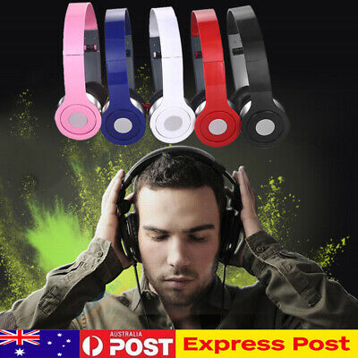 DJ Style 3.5mm Foldable Wired Headset Stereo Headphones PC Earphone Over-Ear AU