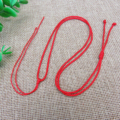 10Pcs Braided Rope Necklace Chain Bead String DIY Handmade Gift Woven Adjustable