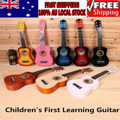 2019 New 21'' Kids Acoustic Guitar 6 String Practice Music Instruments Gift AU