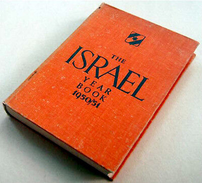 1950 English ISRAEL YEARBOOK Directory GUIDE BOOK Judaica MAPS PHOTOS INDEX LIST