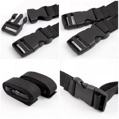 2Pcs Adjustable Nylon Travel Camping Luggage Tent Bind Band Strap 120x2.5cm NEW