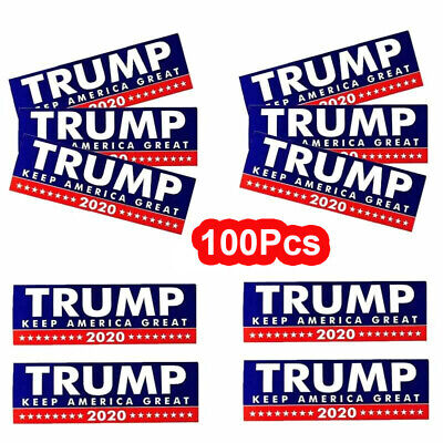 100Pcs/Set Donald Trump President 2020 Keep America Great  Car Bumper Stickers