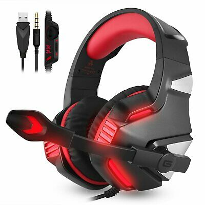 3.5mm Gaming Headset MIC G7500 LED Headphones for PC Laptop PS4 Slim Xbox One S