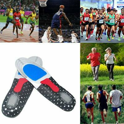 2Pairs Gel orthotic Insoles Sports Running Inner Soles Cushion Heel Arch Support
