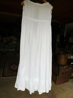 Vintage white cotton christening gown