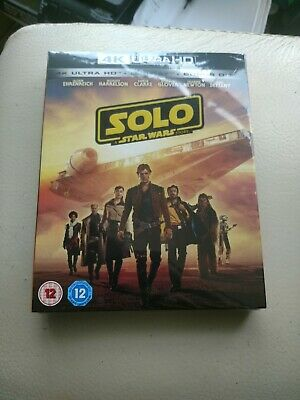 Solo: A Star Wars Story (DVD, 2018, 2 Disc Set, 4K Blu-ray)