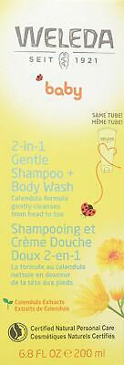 Weleda Baby Calendula Shampoo and Body Wash 200ml (PACK OF 2)