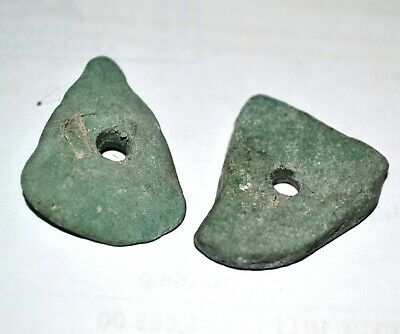 Pair of  Neolithic Stone Pendants, Amulets circa 5000 BC