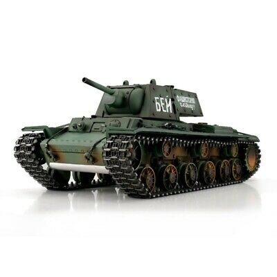1:16 Torro Russian KV-1 RC Tank Airsoft 2.4GHz Metal Edition Green