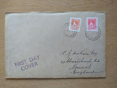 1937 King George VI Coronation first day cover, from Nauru to UK