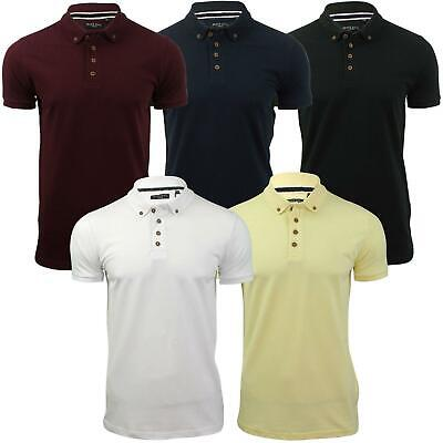Mens Polo T Shirt by Brave Soul Collared Short Sleeved Pique Top S-XXL