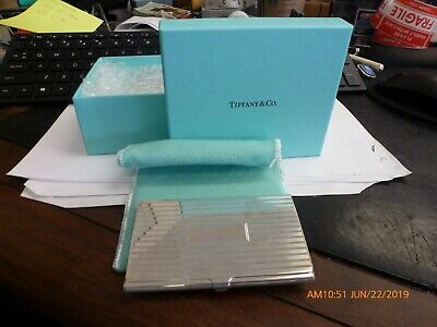 Vintage Tiffany & Co. Sterling Silver Business Card Holder .925 New Old Stock