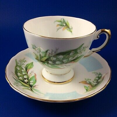 Tuscan - Birthday Flowers - Lily Of The Valley - Bone China Tea Cup And Saucer