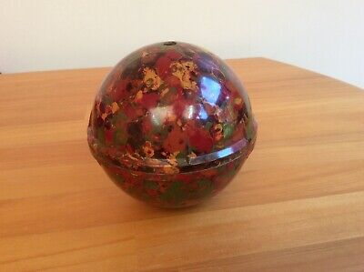 multi-coloured bakelite plastic knitting wool box holder vintage