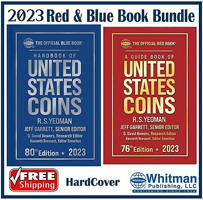New 2021 Red Book Price Guide For US Coins + Blue Book HARDCOVER DEAL Bundle Set