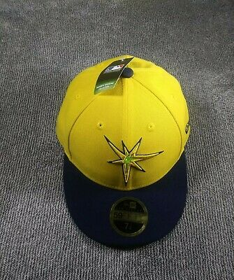 best sneakers 45c2b f0167  36 New Era Tampa Bay Rays Yellow Navy Players Weekend Low Profile 59FIFTY  7 1