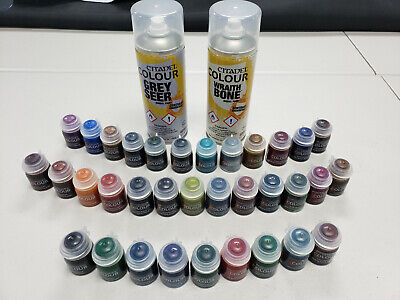 GW Citadel Colour Complete Contrast Paint Set w/ New Spray Primers Free Shipping