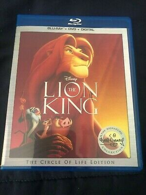 The Lion King Blu-ray Disney classic movie FREE SHIPPING