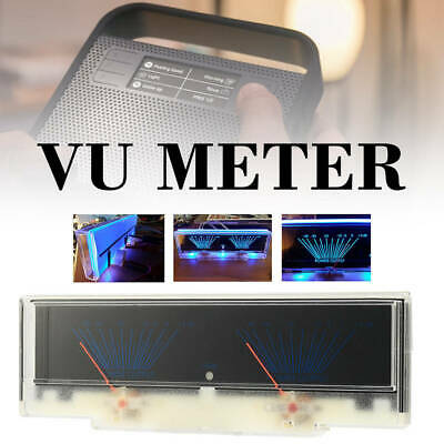 Precision Gift Dual Analog VU Meter Audio Level DB Meter With Backlit Light
