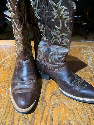 a5ab43022db EUC MEN'S ARIAT Boots Size 7D Western - Cowboy- Brown Leather ...