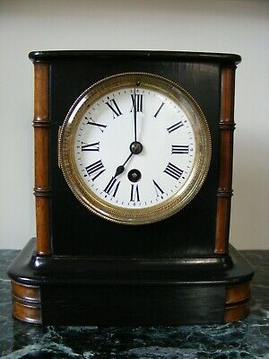 Antique French Mantle Clock, with nice detail, in good working order