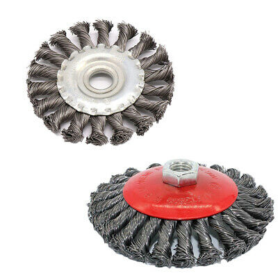 100mm Twist Knot Wire Wheel Wheel Cup Brush Set Kit Fits Angle Grinder