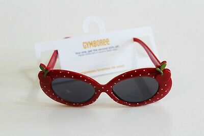 Gymboree Sunglasses Size 4 & Up Red Cherries Cherry Cute Accessory Polka Dot NEW