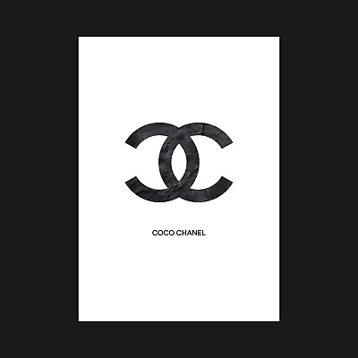 Coco Chanel - Black Rock - Poster Posters Print Wall Art Decor - A5 A4 A3
