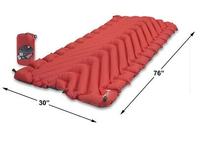 Used Klymit Insulated Static V Luxe Sleeping Pad Extra Wide (30 inches)