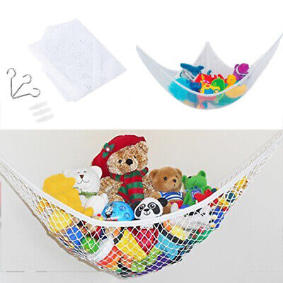Large Soft Teddy Mesh Nursery Baby Childs Hammock Tidy Toy Storage Bedroom