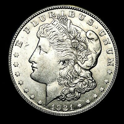 1921 S ~**ABOUT UNCIRCULATED AU**~ Silver Morgan Dollar Rare US Old Coin! #P34