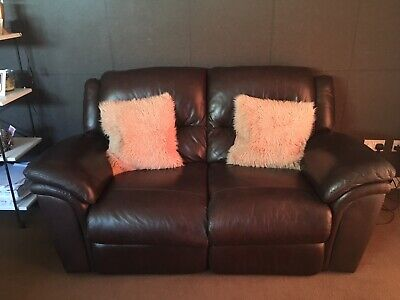 Sisi Italia  2 Seater Sofa Large Recliner Brown Real Leather .
