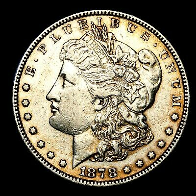 1878 P ~**ABOUT UNCIRCULATED AU**~ Silver Morgan Dollar Rare US Old Coin! #641