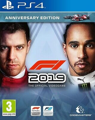 F1 2019 The Official Videogame Anniversary Edition Sony PS4 Playstation 4 Game
