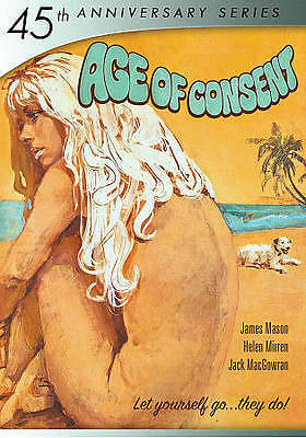 AGE OF CONSENT 45th Anniversary DVD NEW James Mason Helen Mirren NEKKID GLOBAL