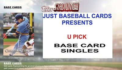 2019 Topps Stadium Club Base Card Singles U Pick Complete Your Set List 2