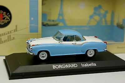 Borgward Isabella Coupe Weiss 1954-1961 1//43 Atlas Norev Modell Auto mit oder oh