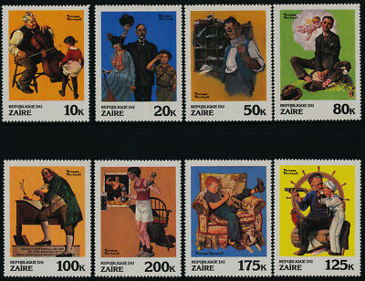 Zaire 1005-12 MNH Art, Paintings, Norman Rockwell, Music, Scouts