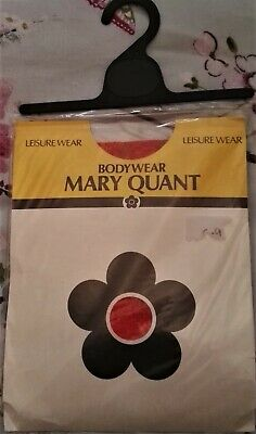 Red Mary Quant Bodystocking One Size Unused in Original Packaging 80's Vintage
