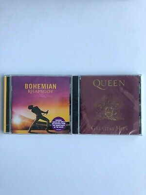 QUEEN - Greatest Hits CD *NEW & SEALED - PLUS BOHEMIAN RHAPSODY MOVIE CD
