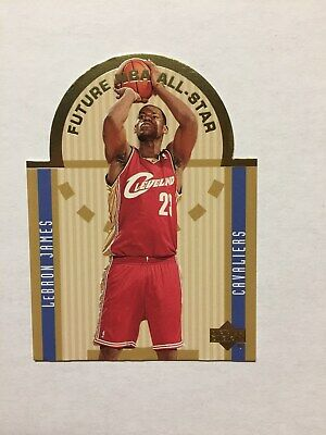 2003-04 Upper Deck Die Cut Future All Stars Set - Lebron James RC+Wade/Anthony