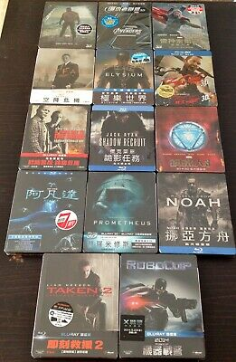 THE TAIWAN BLU RAY STEELBOOK COLLECTION inc. AVENGERS, THOR, CAPTAIN AMERICA.