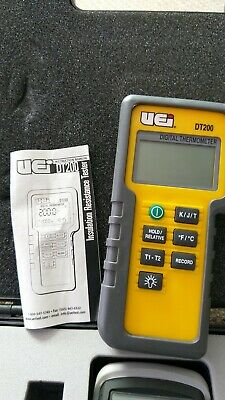 vei dt200 digital thermometer tester dual port twin probes two inputs j k t digi