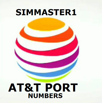 AT&T Phone Numbers Port In & Out To Any Carrier- ANY AREA CODE! FAST SERVICE