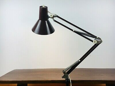 Vintage Mid Century Industrial Anglepoise with Clamp, Machinist, Danish