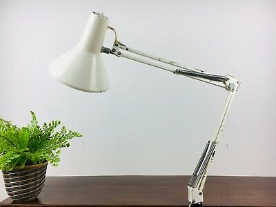 Vintage Mid Century Industrial Anglepoise with Clamp, Machinist, Rust