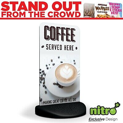Great Coffee Served Here Eco Flex 2 Pavement Sign ***PRINTED & DELIVERED***
