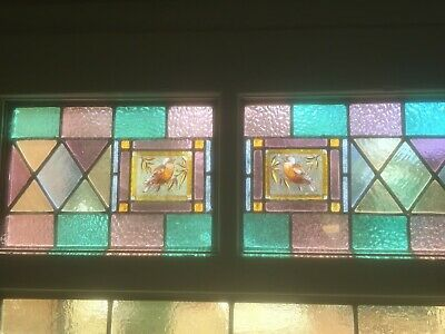 Victorian stained glass (front door) pair