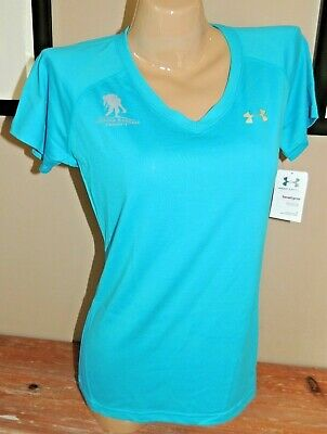 431e6055 Nwt Womens Under Armour Wounded Warrior Wwp Performance Shirt 1228321 679 M  Teal