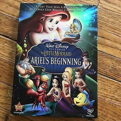 The Little Mermaid - Ariels Beginning (DVD, 2008) - New/Sealed With Slip Cover